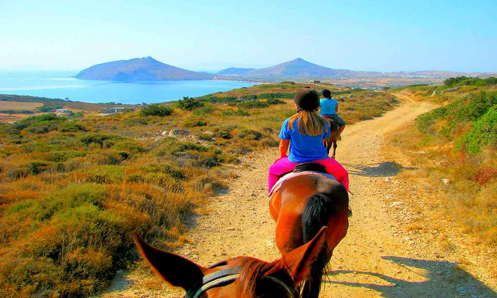 Horse riding by halkidiki's beaches